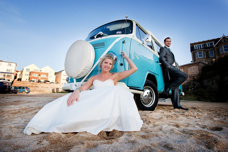 beach wedding photographer cornwall