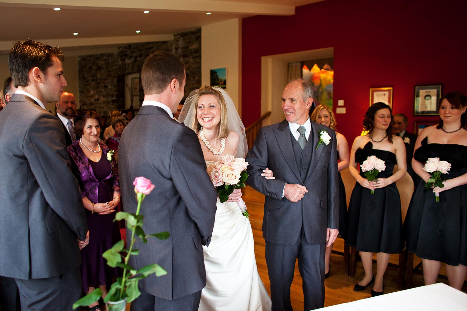 wedding ceremony in the conservatory