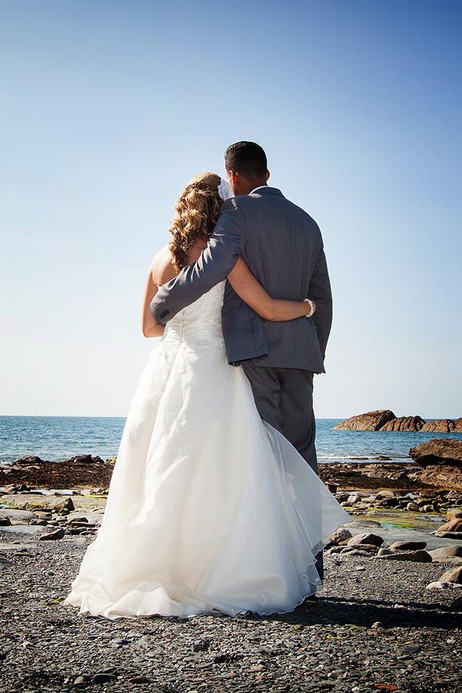 beach wedding in devon