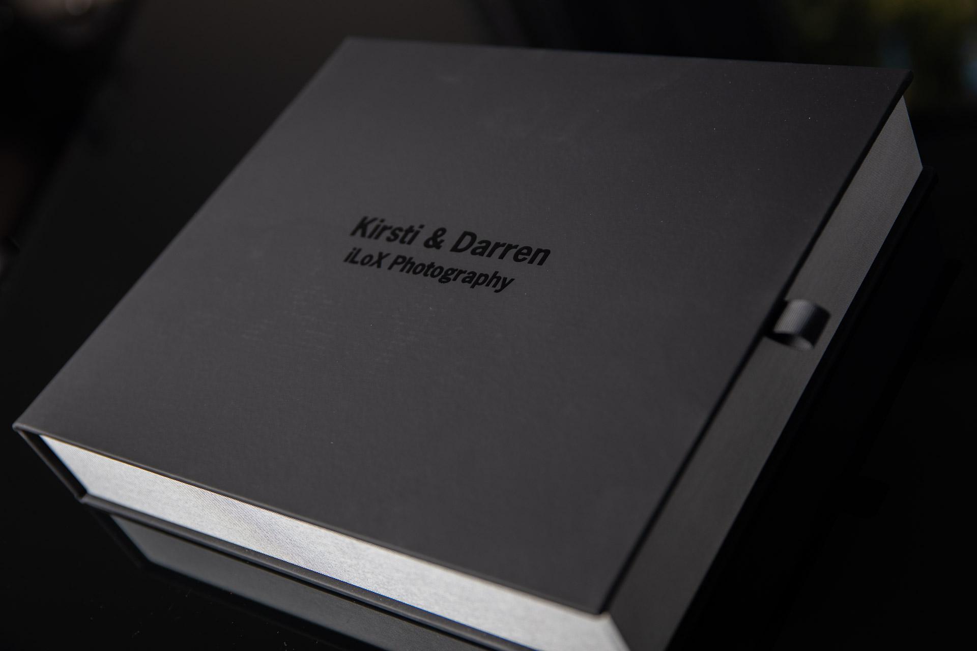 Soft touch wedding album box